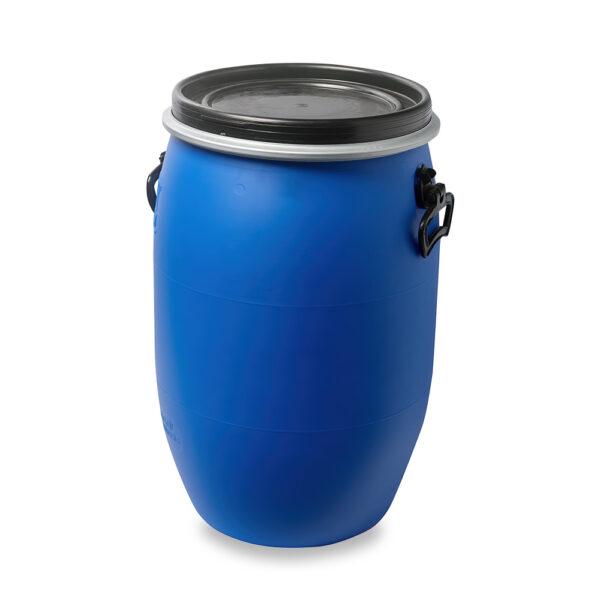 Deckelfass, Fass, Kunststofffass 30 Liter blau