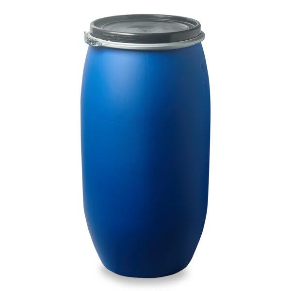 Deckelfass, Fass, Kunststofffass 120 Liter blau