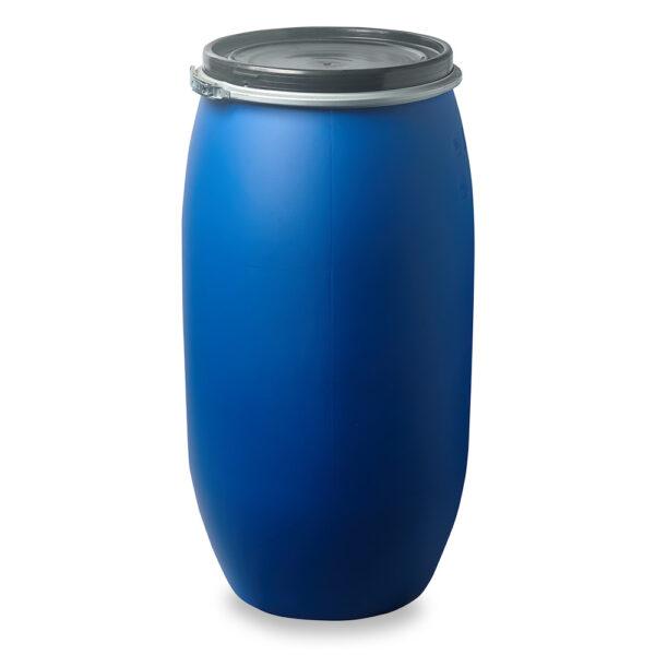 Deckelfass, Fass, Kunststofffass 150 Liter blau