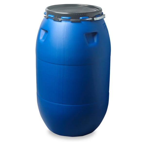 Deckelfass 225 Liter blau