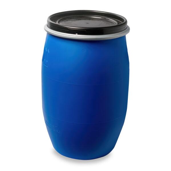 Deckelfass, Fass, Kunststofffass 60 Liter blau